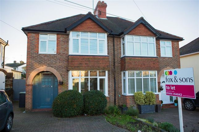 Thumbnail Semi-detached house to rent in Whitelands, Franklynn Road, Haywards Heath