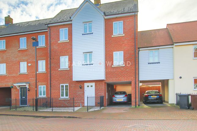 Thumbnail Town house for sale in Corunna Drive, Colchester