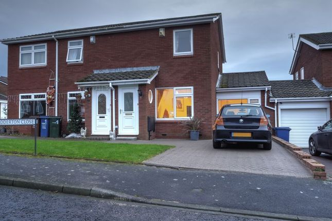Thumbnail Semi-detached house for sale in Nedderton Close, North Walbottle, Newcastle Upon Tyne