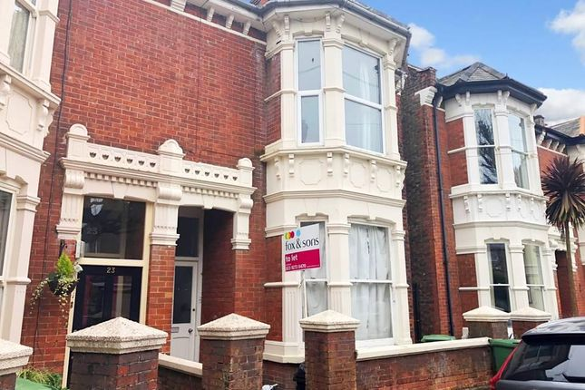 Thumbnail Flat to rent in Wilberforce Road, Southsea
