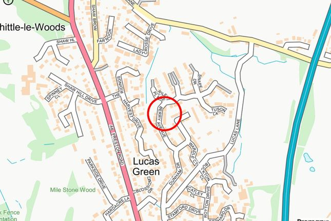Local Map of Berry Avenue, Whittle-Le-Woods, Chorley, Lancashire PR6