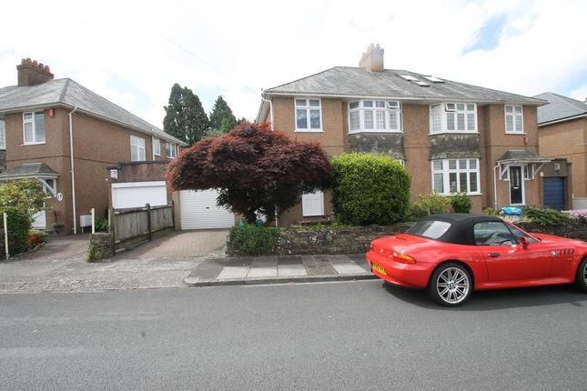 Thumbnail Semi-detached house for sale in Tor Crescent, Hartley, Plymouth
