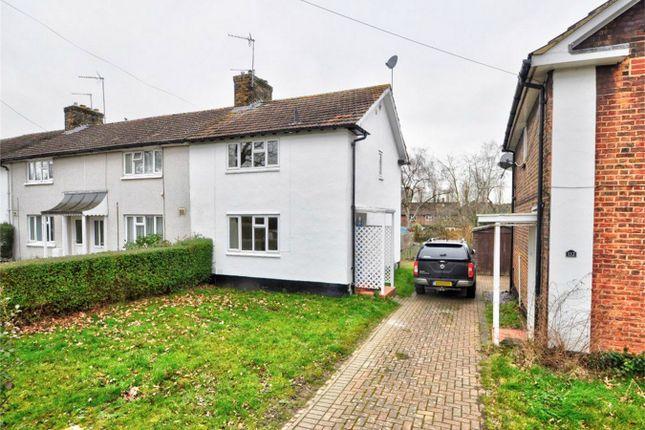 Thumbnail End terrace house for sale in Longcroft Lane, Welwyn Garden City, Hertfordshire