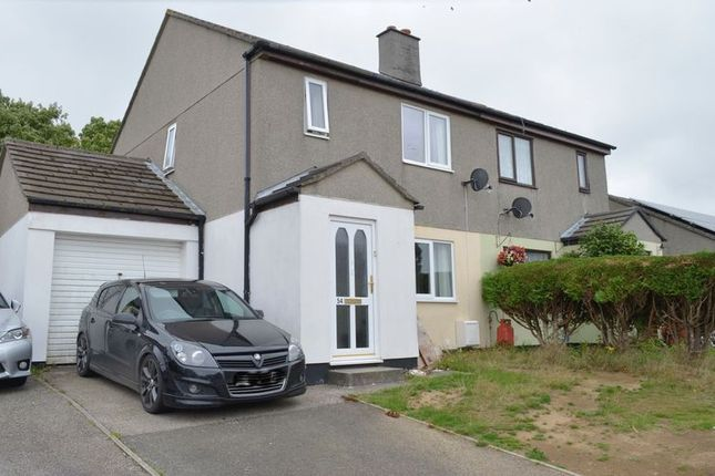 Thumbnail Semi-detached house for sale in Trethannas Gardens, Praze, Camborne