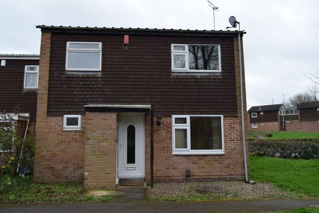 Thumbnail End terrace house to rent in Rockingham Close, Leicester