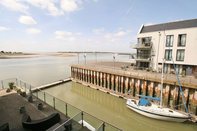 Thumbnail Flat for sale in Waterside Marina, Brightlingsea, Colchester