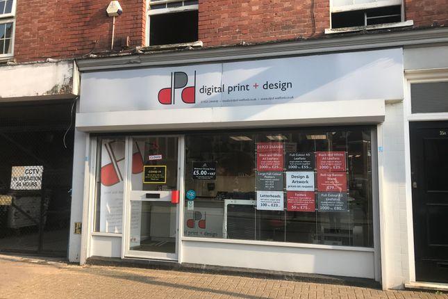 Retail premises to let in Market Street, Watford