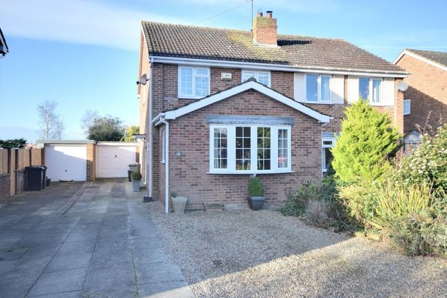 Thumbnail Semi-detached house for sale in Fairfax Crescent, Tockwith, York