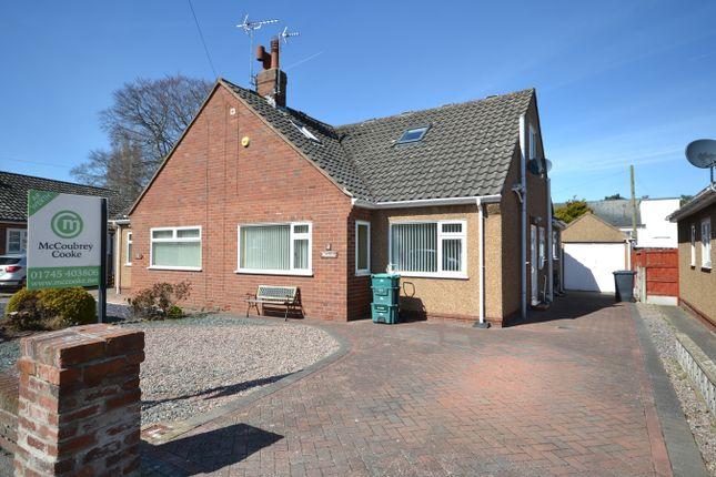 Thumbnail Semi-detached bungalow for sale in Clifton Rise, Abergele