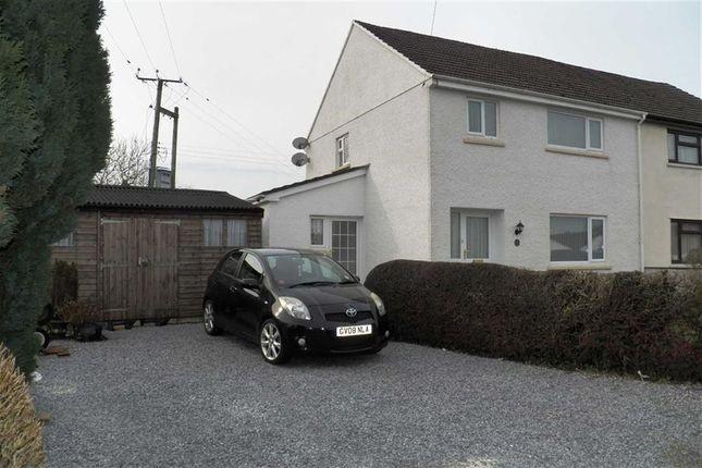 Thumbnail Semi-detached house for sale in Bro Llawddog, Rhydargaeau, Carmarthen
