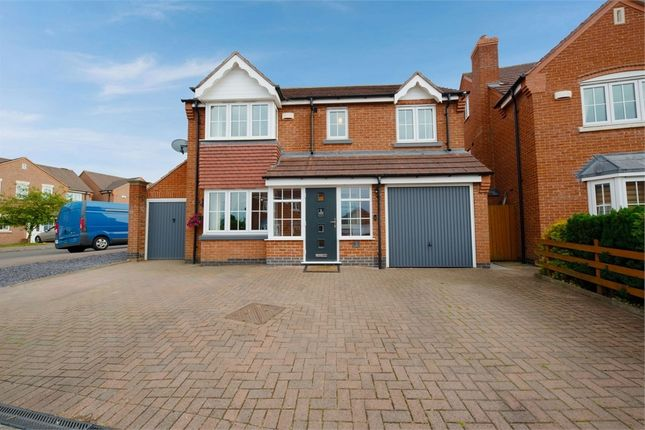 Thumbnail Detached house for sale in Reynolds Chase, Wigston, Leicestershire
