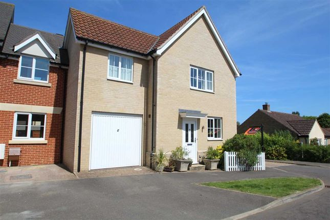Thumbnail Link-detached house for sale in Crown Field Road, Glemsford, Sudbury