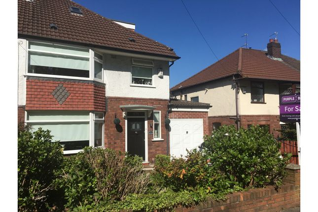 Thumbnail Semi-detached house for sale in Woolton Road, Liverpool