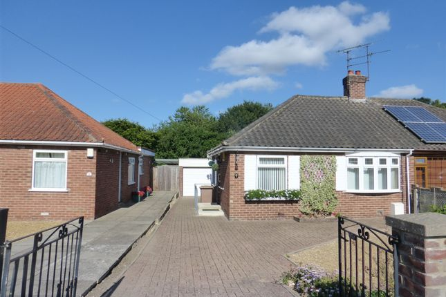 Thumbnail Semi-detached bungalow for sale in Oval Avenue, New Costessey, Norwich