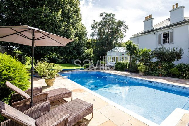 Poolside of Bagatelle Road, St. Saviour, Jersey, Channel Isles JE2