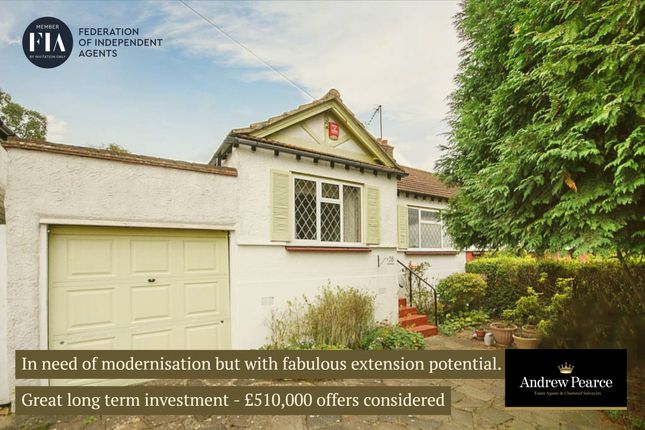 Thumbnail 2 bed semi-detached bungalow for sale in Potter Street, Pinner