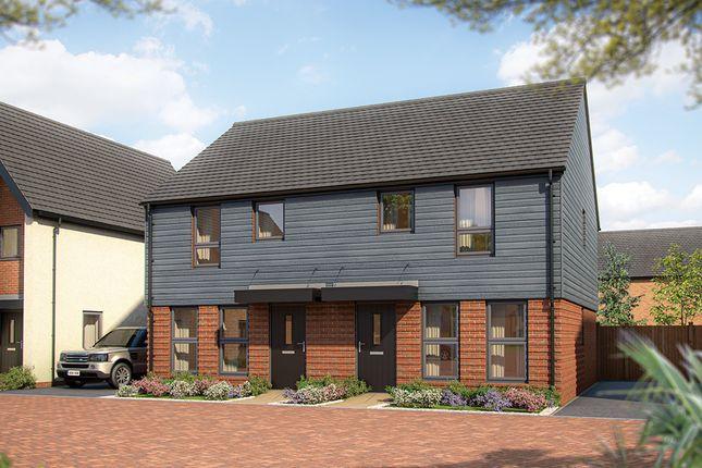 "Thumbnail Semi-detached house for sale in ""The Magnolia"" at Wavendon, Milton Keynes"