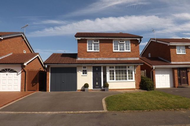 Thumbnail Detached house for sale in Kinsham Drive, Hillfield, Solihull