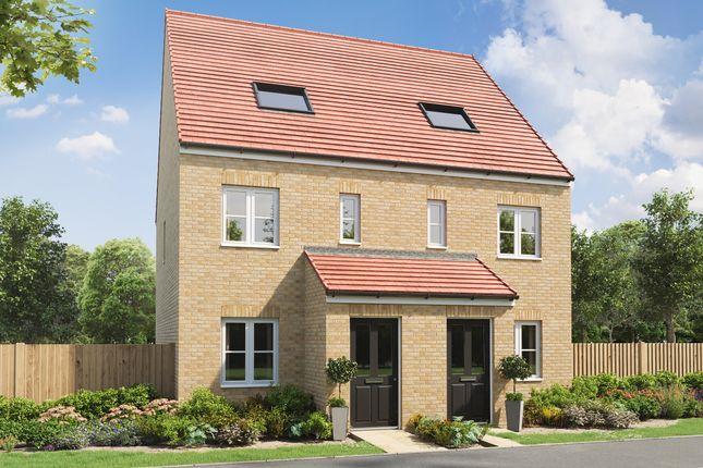 "Thumbnail End terrace house for sale in ""The Braunton"" at Summerhouse, Ashington"