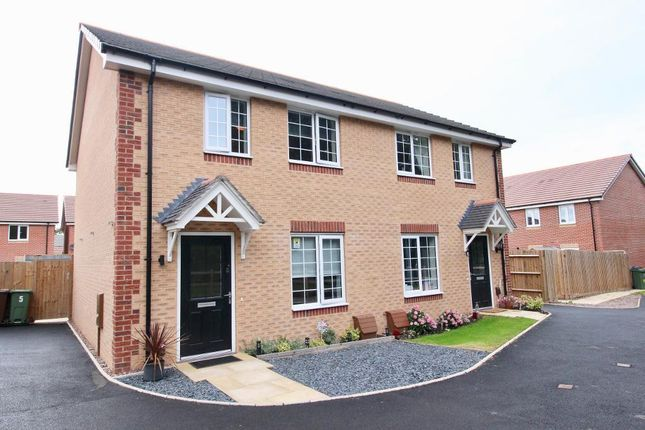 Thumbnail Semi-detached house to rent in Tatenhill Walk, Eccleshall Road, Stone, Staffordshire