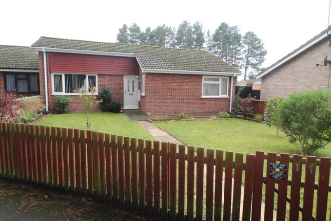 Thumbnail Terraced bungalow for sale in Rowan Walk, Mildenhall, Bury St. Edmunds