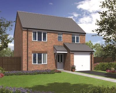 "Thumbnail Detached house for sale in ""The Crathorne "" at Coquet Enterprise Park, Amble, Morpeth"