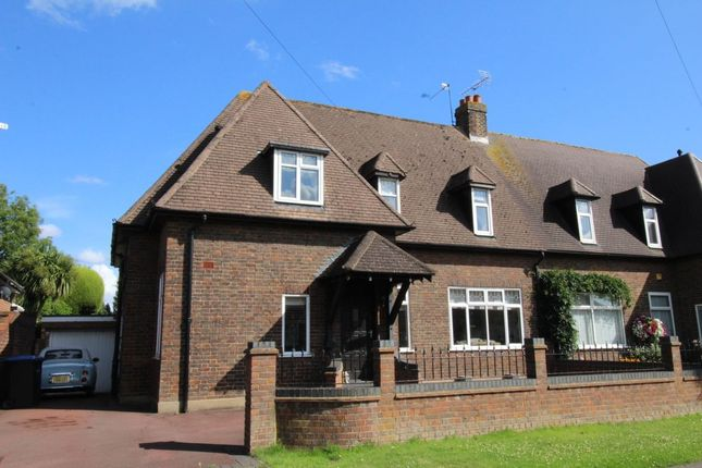 Thumbnail Semi-detached house for sale in Midway Avenue, Thorpe, Egham