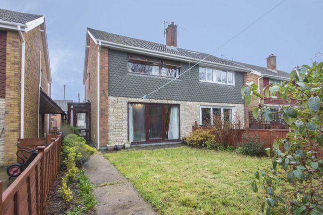 Thumbnail Semi-detached house for sale in Overdale Walk, Croespenmaen, Crumlin, Newport