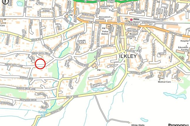 Location Plan of Parish Ghyll Lane, Ilkley, West Yorkshire LS29