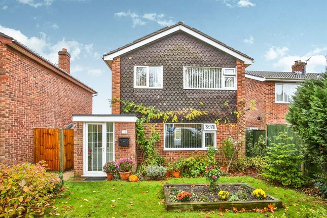 Thumbnail Detached house for sale in Purtingay Close, Norwich