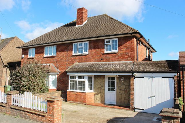 Thumbnail Semi-detached house for sale in Wycliffe Close, Welling, Kent