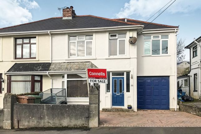 Thumbnail Semi-detached house for sale in Dean Park Road, Plymstock, Plymouth