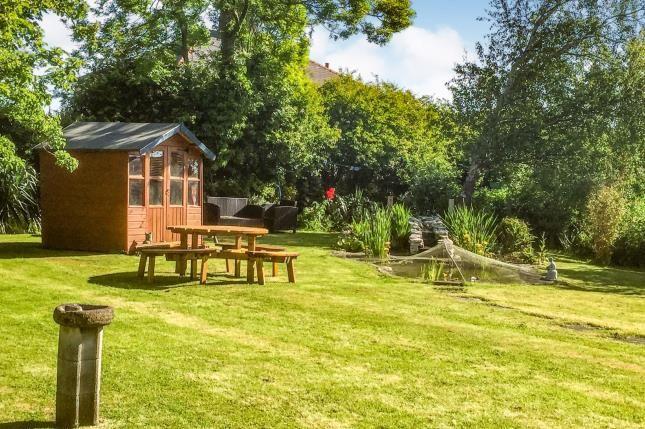 Garden And Pond of Banks Crescent, Heysham, Morecambe, Lancashire LA3