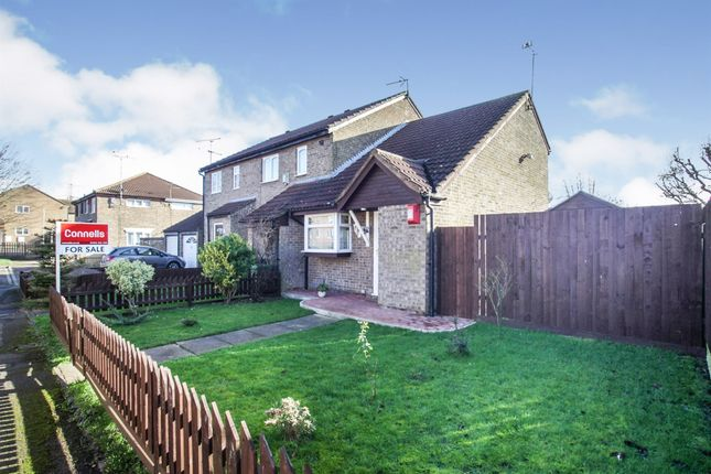 Thumbnail End terrace house for sale in Conway Close, Houghton Regis, Dunstable