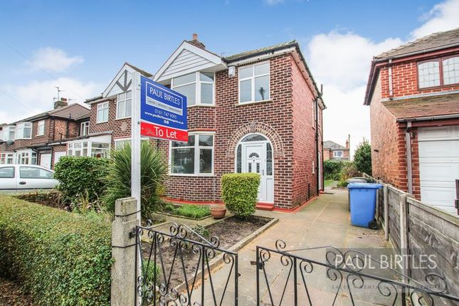 Thumbnail Semi-detached house to rent in Franklyn Avenue, Flixton, Manchester