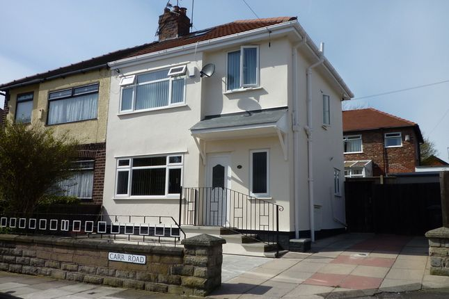 Thumbnail Semi-detached house for sale in Carr Road, Bootle, Liverpool