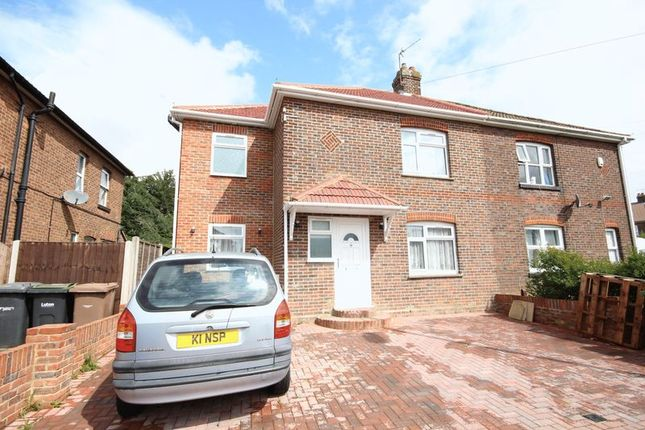 Thumbnail Semi-detached house to rent in Putteridge Road, Luton