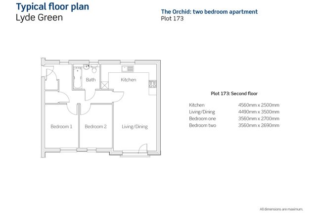 2 bedroom flat for sale in Chilcott House, Emersons Green, Bristol