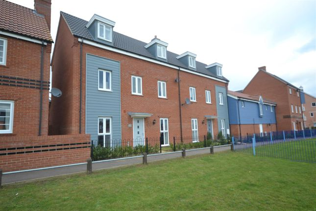 Thumbnail Town house for sale in Costessey, Norwich