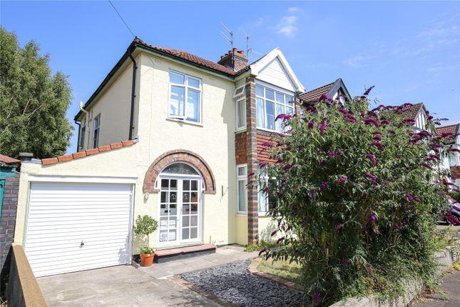 Thumbnail Semi-detached house for sale in Oakwood Avenue, Henleaze, Bristol