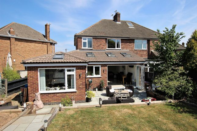 Thumbnail Semi-detached house for sale in Beaufort Avenue, Loughborough