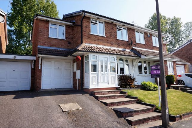 Thumbnail Semi-detached house for sale in Gurnard Close, Willenhall