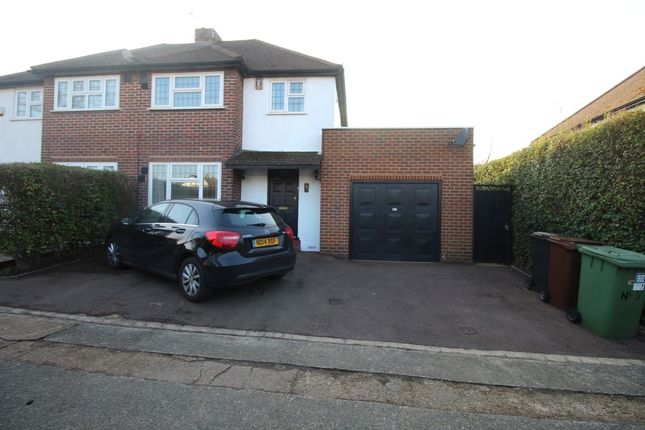 Thumbnail Semi-detached house to rent in The Hawthorns, Ewell, Epsom