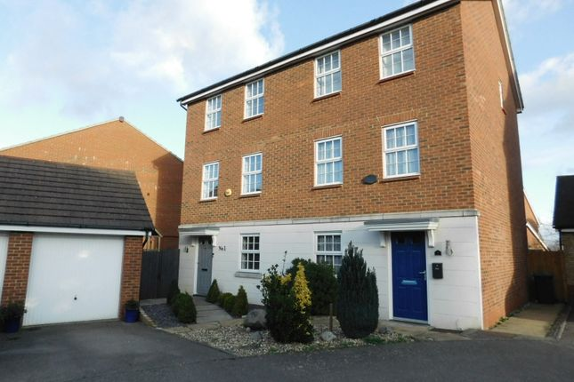 Thumbnail Town house for sale in Glossop Way, Church End, Arlesey, Beds