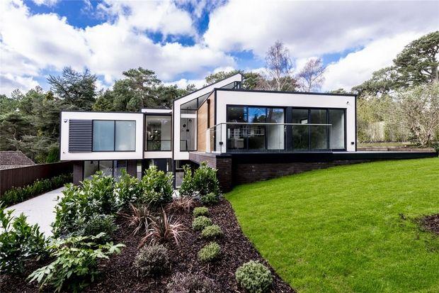 Thumbnail Detached house for sale in Bury Road, Branksome Park, Poole, Dorset