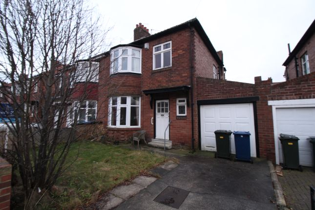 Thumbnail Semi-detached house for sale in Friarside Road, Fenham, Newcastle Upon Tyne