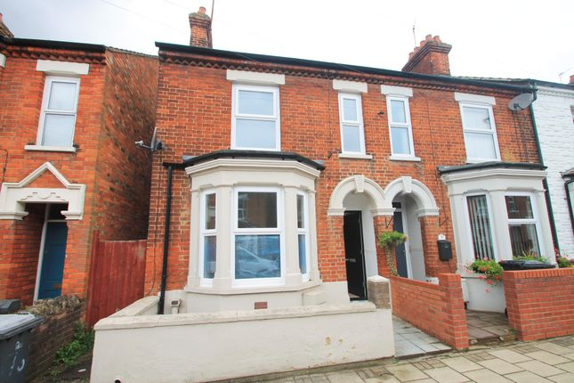 Thumbnail End terrace house to rent in Gladstone Street, Bedford