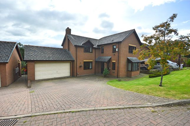 Thumbnail Detached house for sale in Bramble Close, Llanllwchaiarn, Newtown, Powys