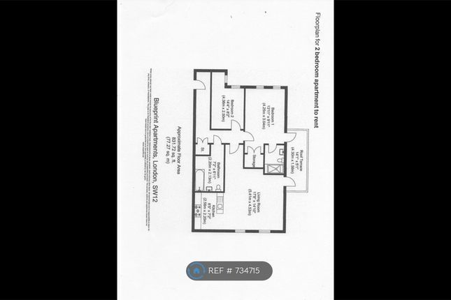 Floorplan of Blueprint Apartments, Balham SW12