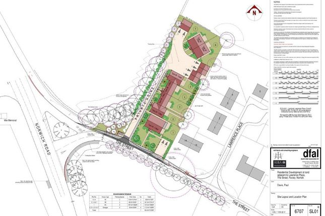 Thumbnail Land for sale in Development Land, The Street, Foxley, Dereham, Norfolk